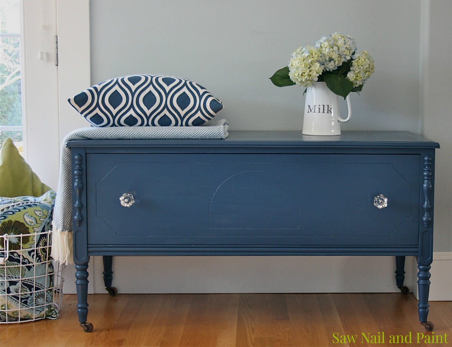 February 2015 for Navy blue painted furniture