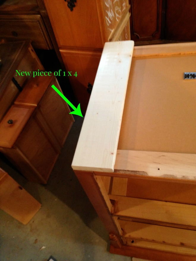 Maple dresser 1 x 4 picture