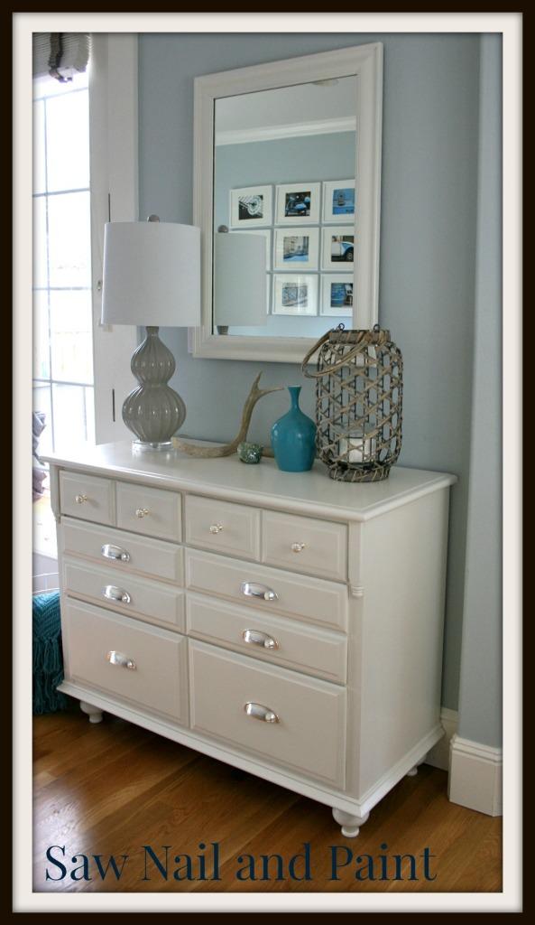 White dresser with mirror 2