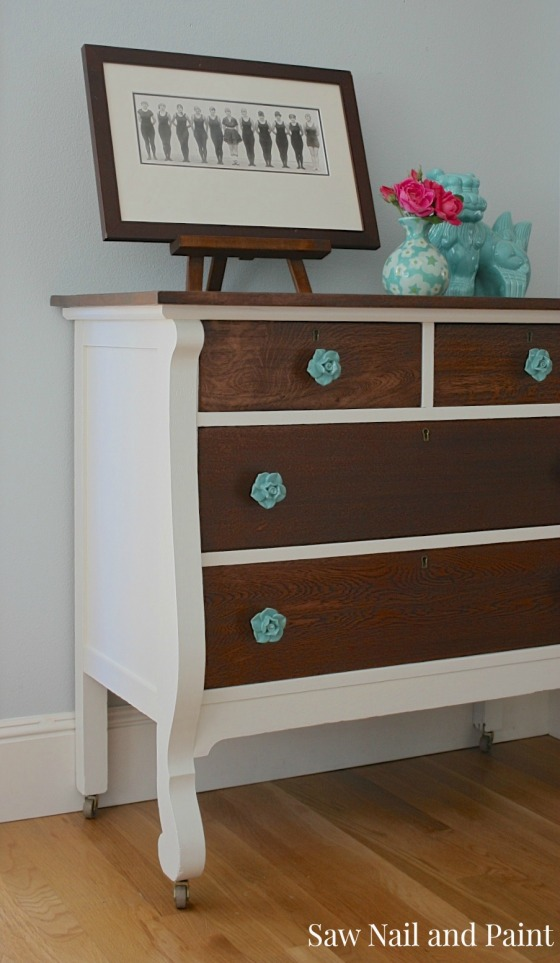 two tone dresser from Saw Nail and Paint